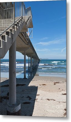Ocean Beach Pier Stairs Metal Print