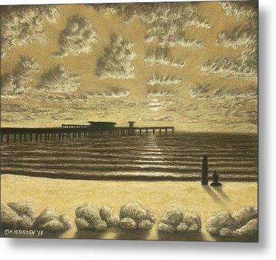 Ocean Beach Pier Sunset 01 Metal Print