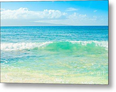 Ocean Blue Beach Dreams Metal Print by Sharon Mau