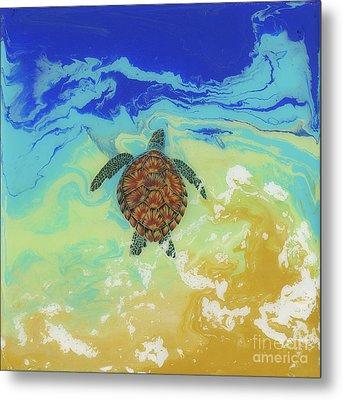 Ocean Bound Metal Print by Danielle Perry