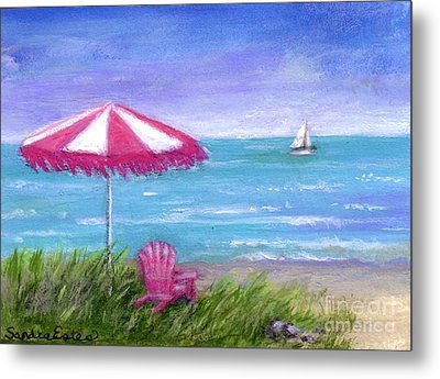 Metal Print featuring the painting Ocean Breeze by Sandra Estes
