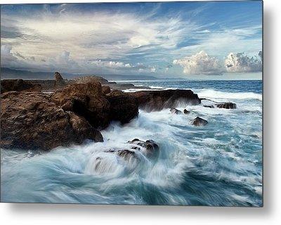 Ocean Brushes Metal Print by Kieran OConnor