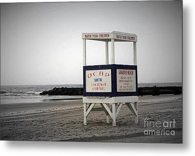 Ocean City Beach  Metal Print by Denise Pohl
