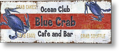 Ocean Club Cafe Metal Print by Debbie DeWitt