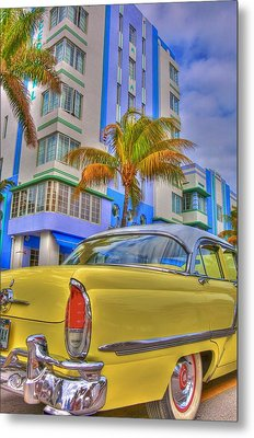 Ocean Drive Metal Print by William Wetmore