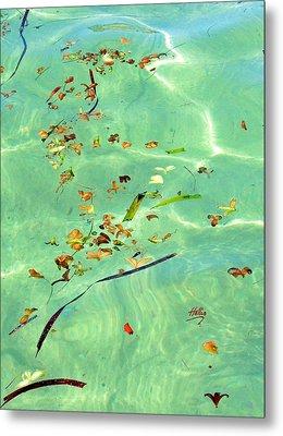 Ocean Flowers Metal Print