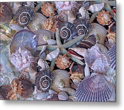 Ocean Gems 11 Metal Print by Lynda Lehmann