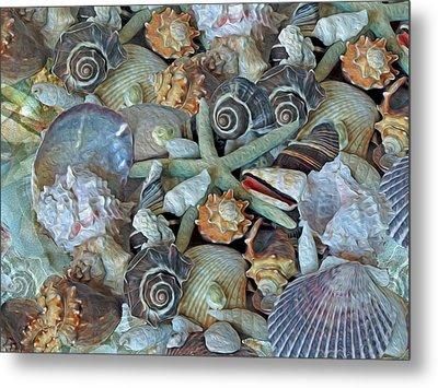 Ocean Gems 5 Metal Print by Lynda Lehmann