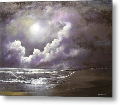 Ocean Grove Moon Metal Print