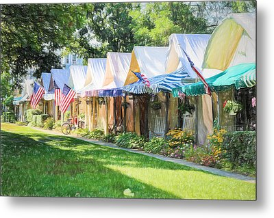 Ocean Grove Tents Sketch Metal Print