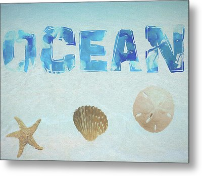 Ocean Postcard Metal Print
