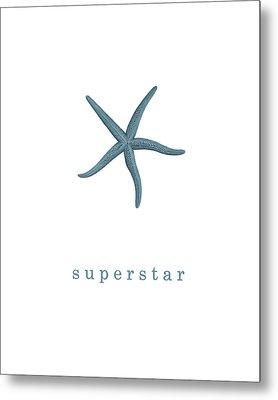 Ocean Quotes Superstar Metal Print