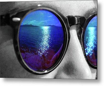 Ocean Reflection Metal Print
