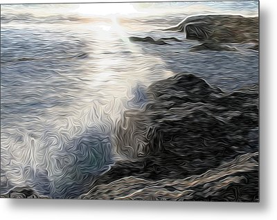 Ocean Splash Metal Print by Carol Crisafi