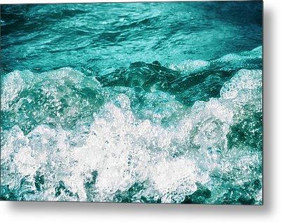 Ocean Splashes Metal Print by Wim Lanclus