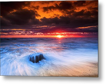Ocean Sunrise March 30 2017 Metal Print by Dapixara Art