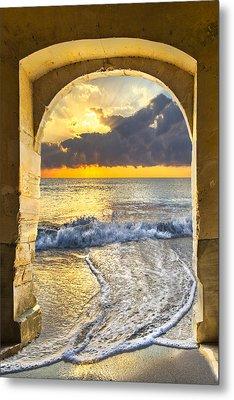 Ocean View Metal Print by Debra and Dave Vanderlaan
