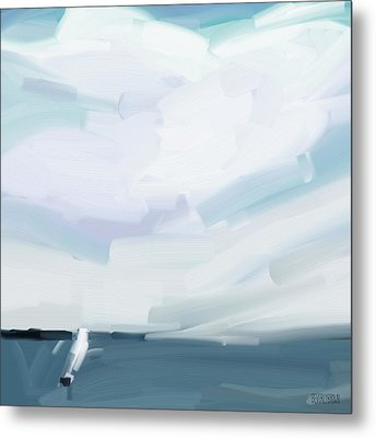 Ocean View From Fire Island Metal Print