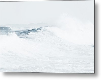 Metal Print featuring the photograph Ocean Wave. Series Ethereal Blue by Jenny Rainbow