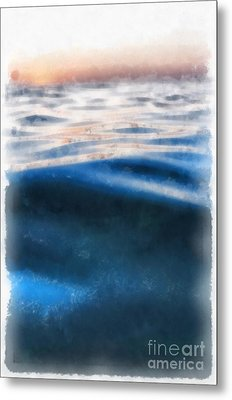 Metal Print featuring the painting Ocean Waves by Edward Fielding
