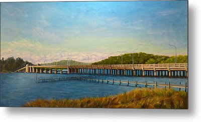 Oceanic Bridge Metal Print