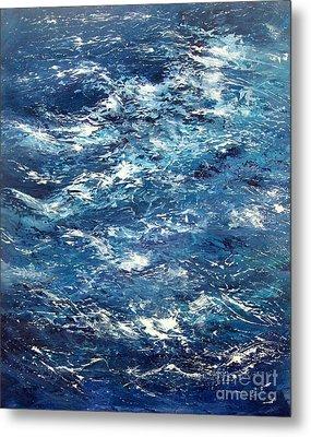 Ocean's Blue Metal Print