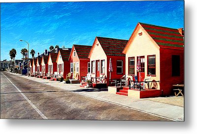 Oceanside Beach Cottages Metal Print by Glenn McCarthy Art and Photography
