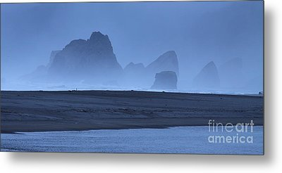 Metal Print featuring the photograph Oceanside Hoodoos Along The Oregon Coast by Max Allen