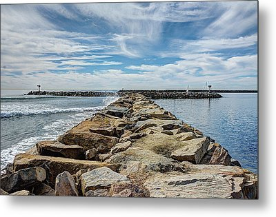Oceanside Jetty Metal Print
