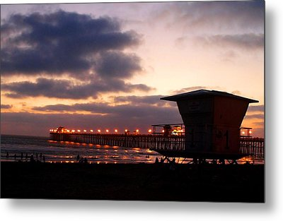 Metal Print featuring the photograph Oceanside Pier by Christopher Woods