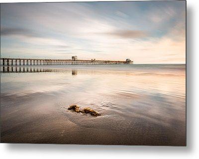 Metal Print featuring the photograph Oceanside Pier Pastels by Alexander Kunz