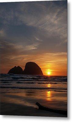 Oceanside Sunset 4 Metal Print