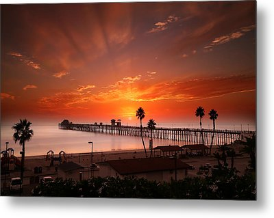 Oceanside Sunset 9 Metal Print by Larry Marshall