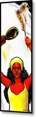 Ochun -the Goddess Of Love And Beauty  Metal Print by Carmen Cordova