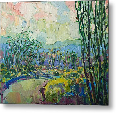 Ocotillo Forest Metal Print by Erin Hanson