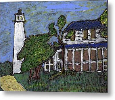 Ocracoke Island Light House Metal Print