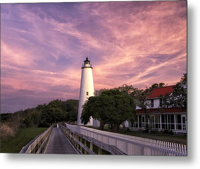Ocracoke Lighthouse 01 Metal Print