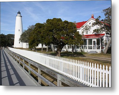 Ocracoke Lighthouse Metal Print by Tony Cooper