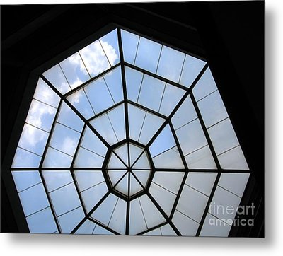 Octagon Skylight Metal Print by Yali Shi