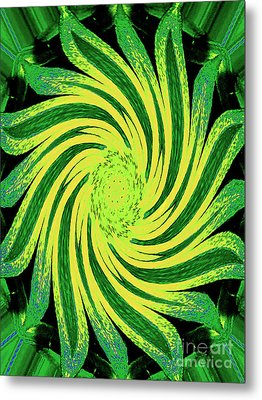 Metal Print featuring the digital art Octagonal Painting Put Into Motion by Merton Allen