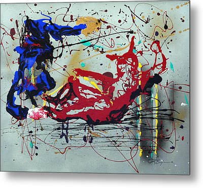 Metal Print featuring the painting October Fever by J R Seymour