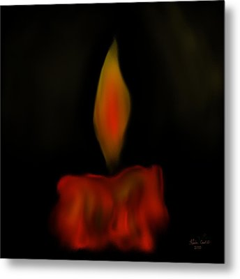 October Flame Metal Print by Kevin Caudill