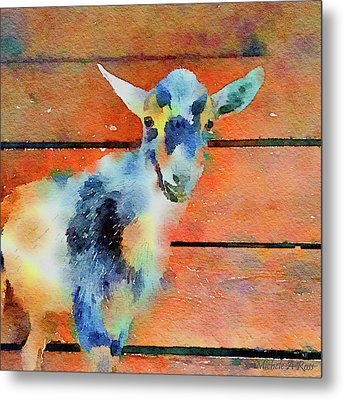 October Kid Metal Print by Michele Ross