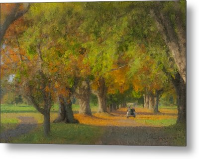 October Morning At Easton Country Club Metal Print by Bill McEntee