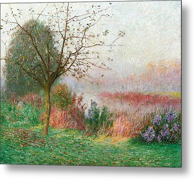 October Morning On The River Lys Metal Print