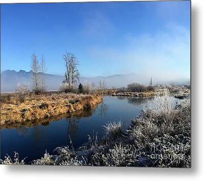 Metal Print featuring the photograph October Morning by Victor K