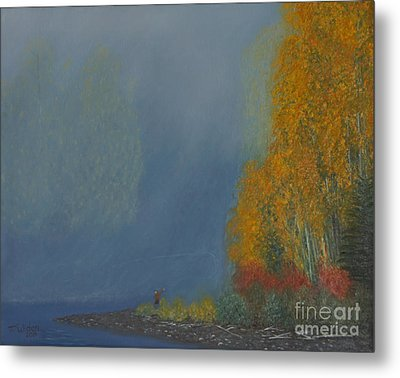 October On The River Metal Print