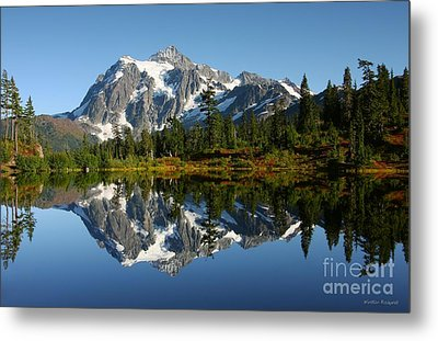 October Reflection Metal Print