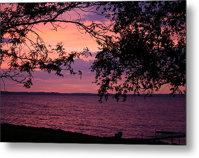 Metal Print featuring the photograph October Sunrise On Winnebago by Jack G  Brauer