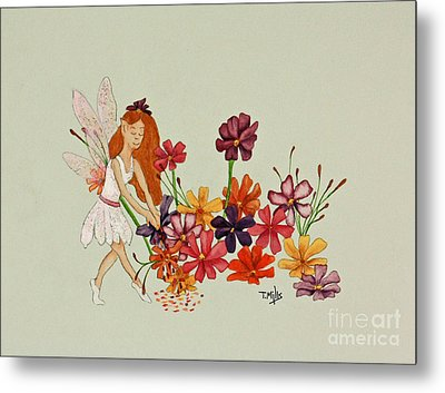 October Metal Print by Terri Mills